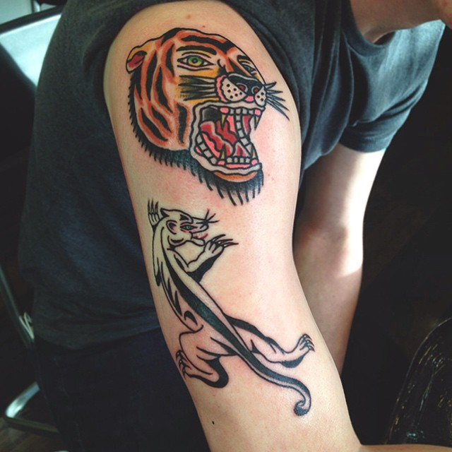 Tiger and crawling panther for Harley