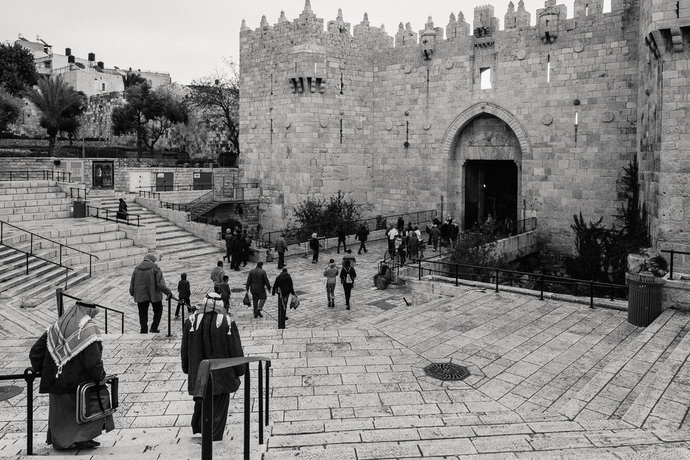 Damascus Gate, one of the entry points to Old Jerusalem.