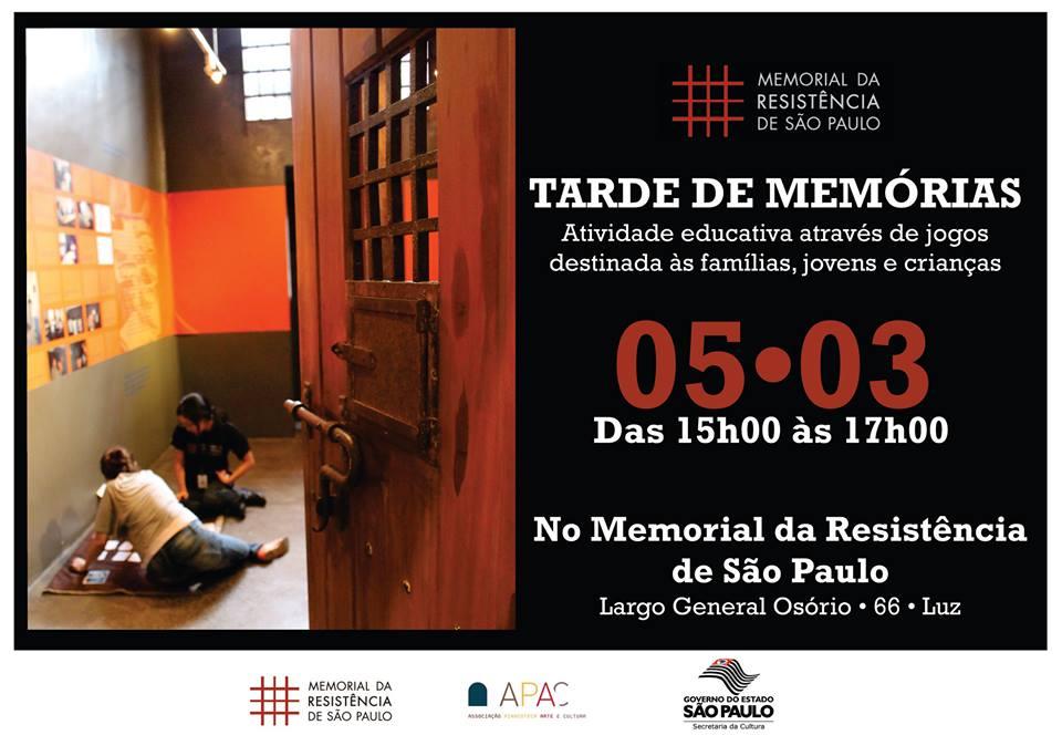 imagem retirada da página do Memorial da Resistência no facebook