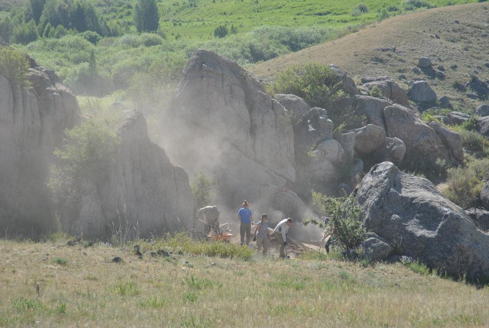 Student excavations at Dali, 2012 Bayan-Zhurek Valley Kazakhstan