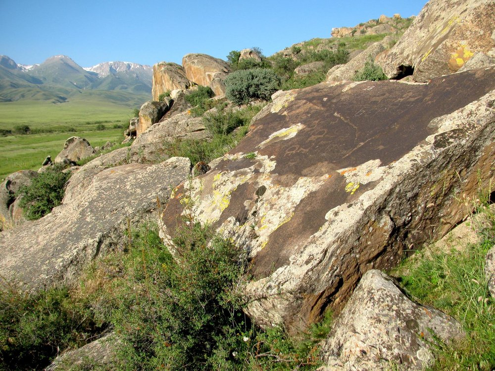 3000 year old rock etchings, southeast Kazakhstan (2017)