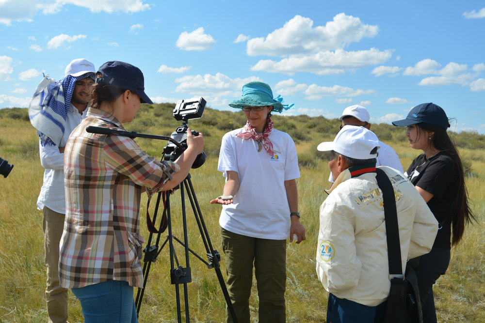 Interview given for local television about supporting archaeological heritage and preservation efforts in east Kazakhstan (2018)