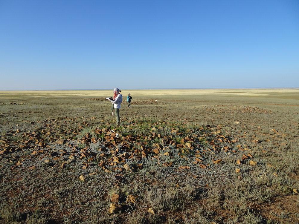 Iron Age stone kurgan cemetery, Kazakhstan