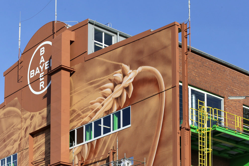 Bayer-Wandgrafik-Wandgestaltung-Rasterbild-Industrie
