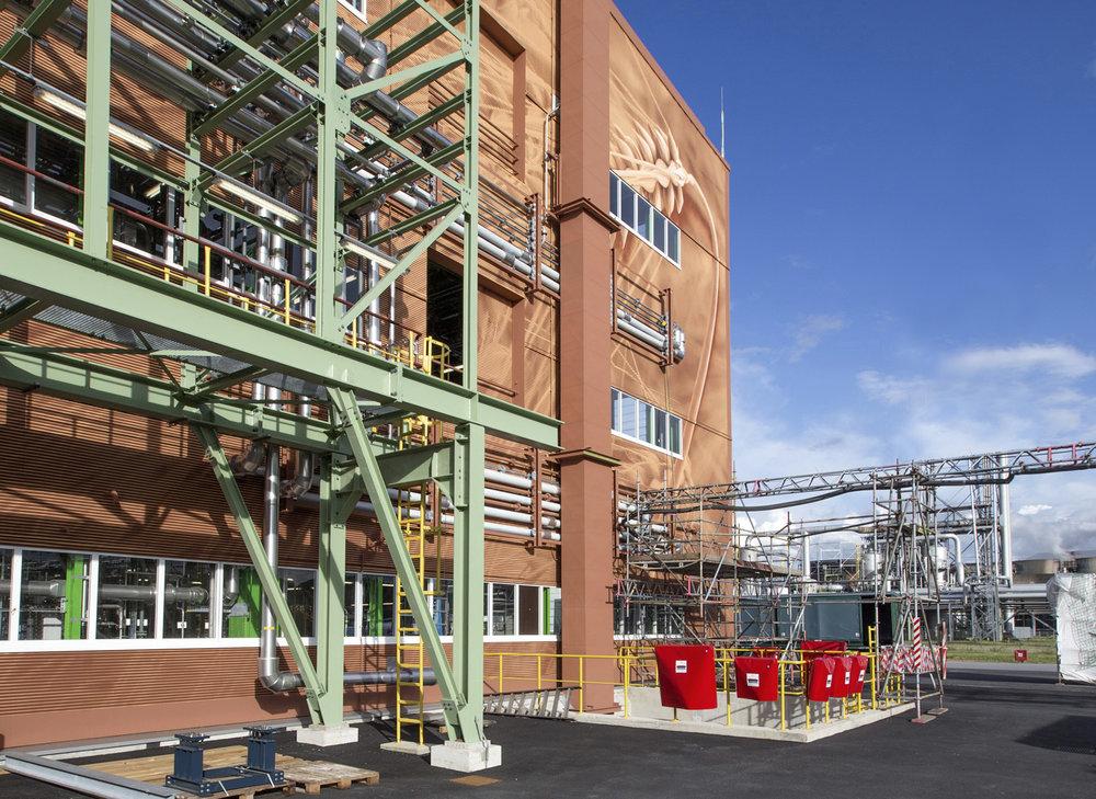 Bayer-Wandbild-Wandgestaltung-Grafik-Industrie
