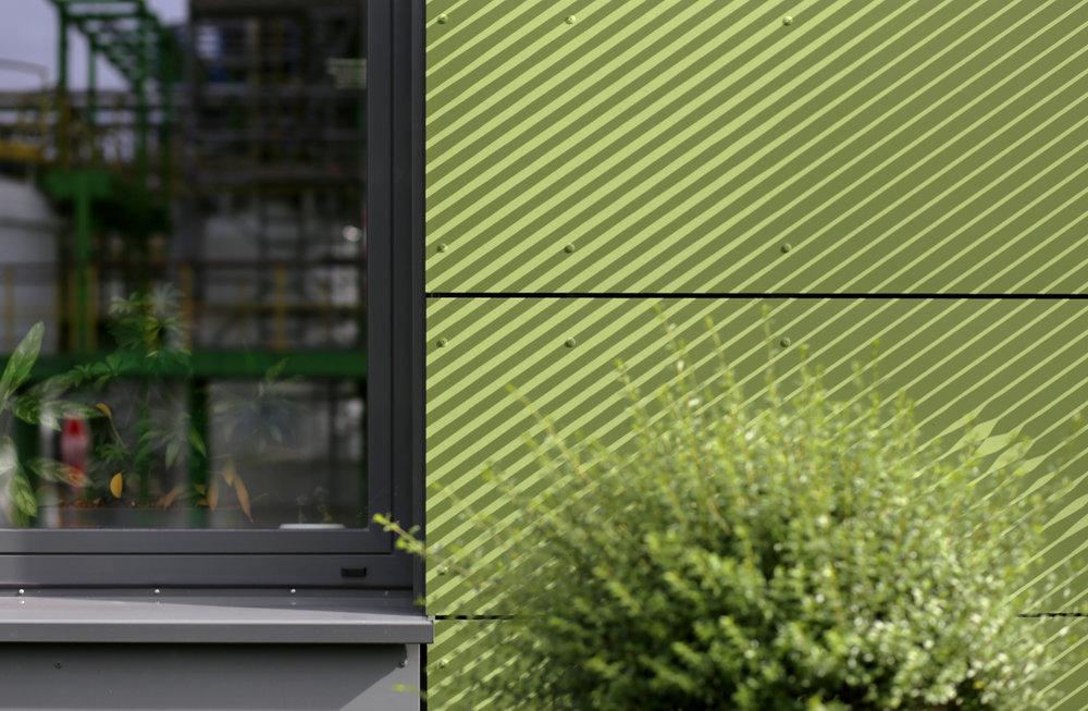 Fassadengestaltung-fassadenverkleidung-faserzement-eternit-platten-farbe-bayer-dormagen-gruen.JPG