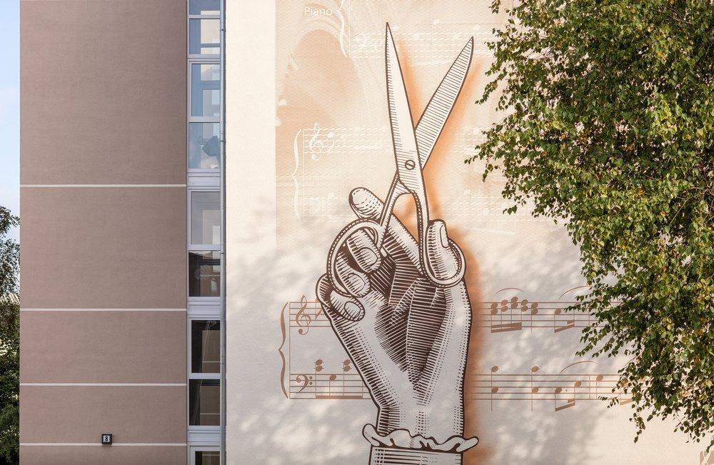 Wandmalereien in der Mozartstraße in Engelsby - 25.09.2017 - Foto Marcus Dewanger