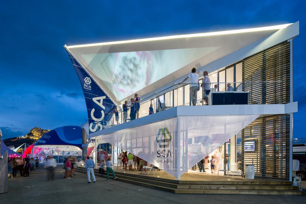 SCA Pavillon für das Volvo Ocean Race |  Uniplan