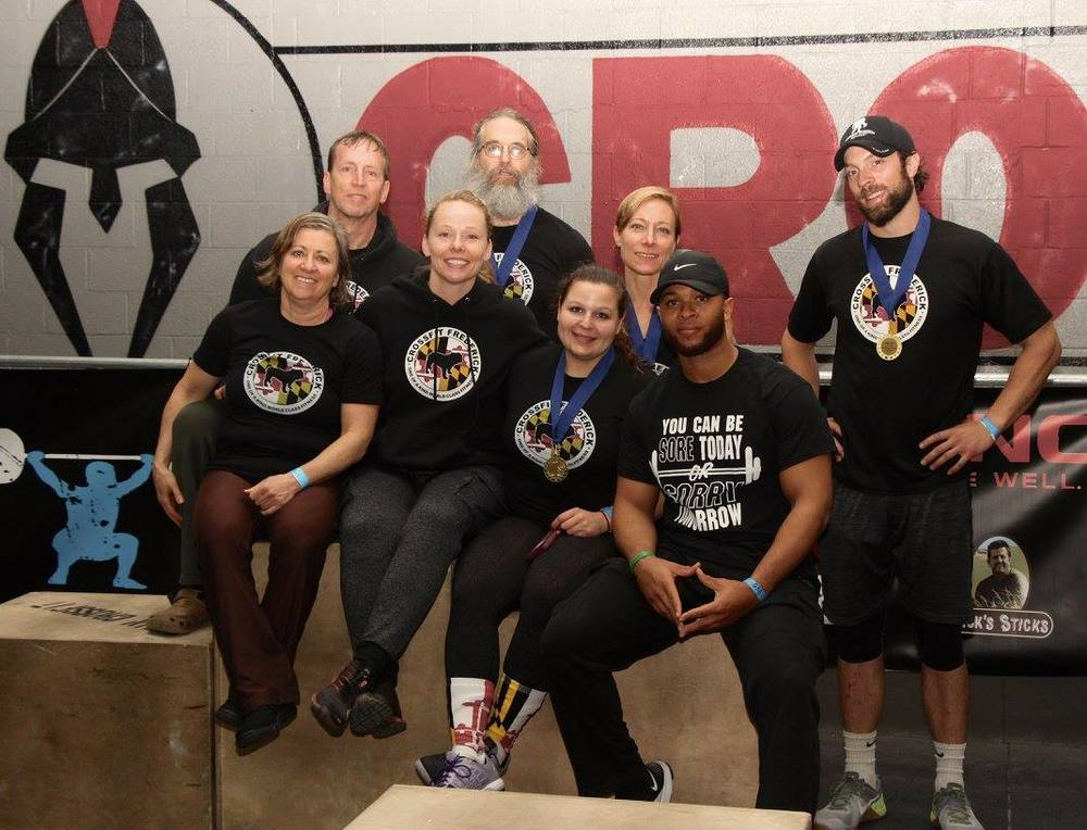 CFF Athletes: Jill, Peter, Rudy, Tim, Coach Kara, Katie, Ray and Dylan @ the Gemini Games.