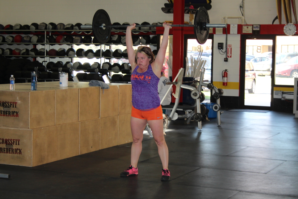 Angela Weir kicking butt in the gym so she can kick butt in life!!! Strong is an understatement.