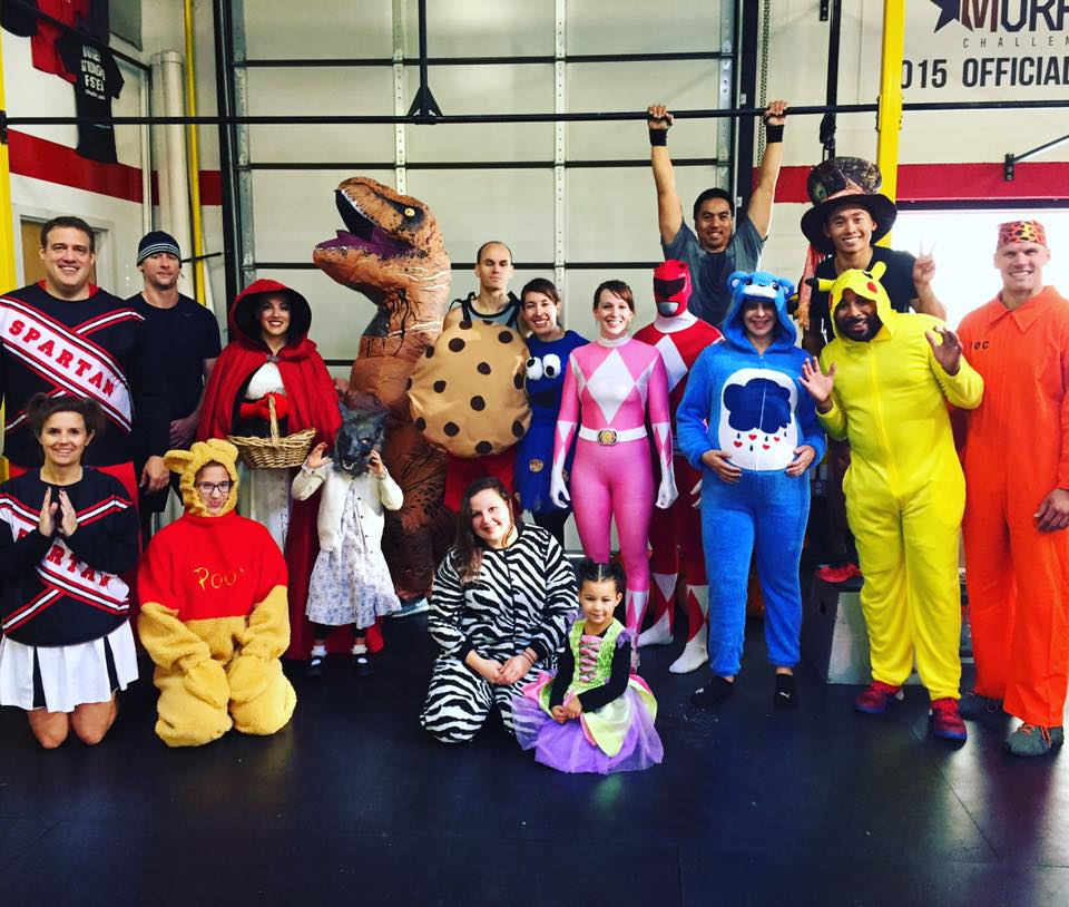 9am Saturday WOD group in costume.