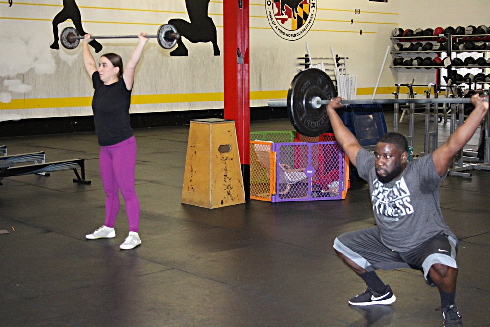 Emily and Phillip - Overhead Squats