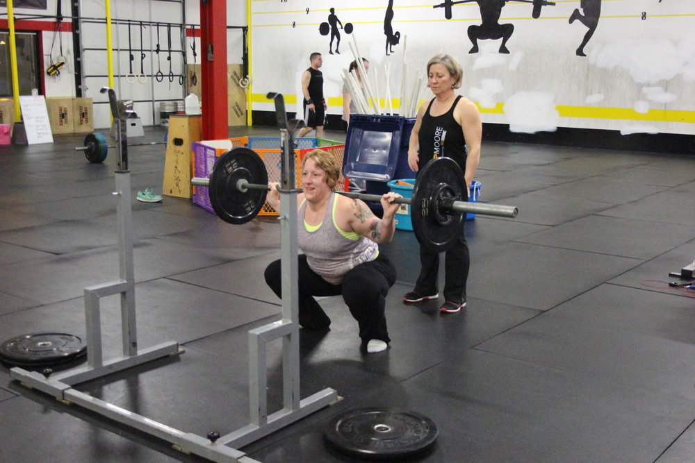 Tracy A., Nice Back Squat!