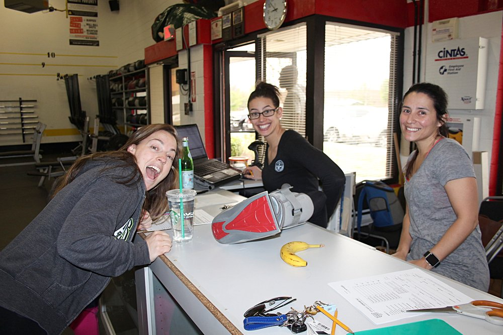 Marcy with her assistants Mila and Megan during Saturday mornings 17.1. Thanks ladies!
