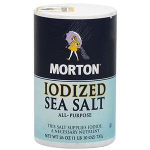 Check your labels carefully.  Many brands make iodized and non-iodized versions of their salt.