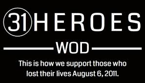 This Sunday, August 6th @ 9AM. BBQ and beverages immediately after the WOD. Bring a side-dish to share.  Read about the 31 Heroes WOD HERE.
