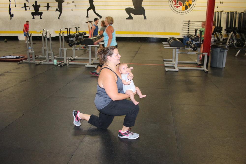 Coach Kara with baby, Nash.