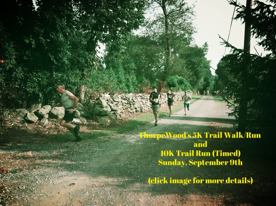 REMINDER: CrossFit Frederick will be closed on Sunday, September 9th because we are walking and running in the ThorpeWood's 5K Trail Walk/Run and 10K Trail Run. Registration is still available if you missed this post in the box. Sign up and walk/run with us!