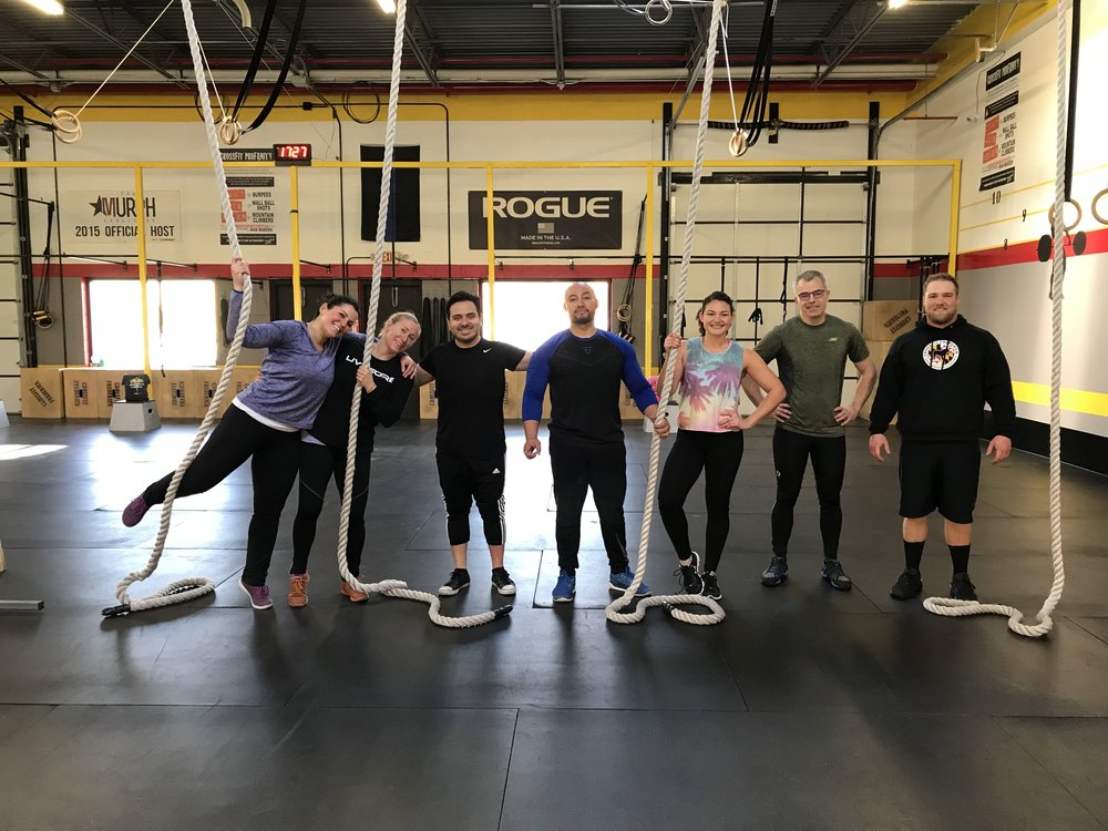 Our happy members from Hannah's Rope Climbing clinic held on February 16th. Congratulations to each of you for the success of climbing all the way up the rope!
