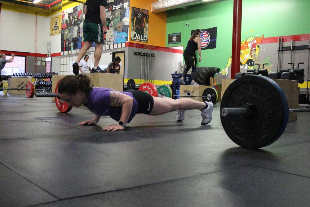 Keersten pushing-up. :)