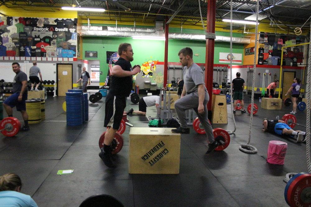 Logan and Dan sharing the box during McGhee :)