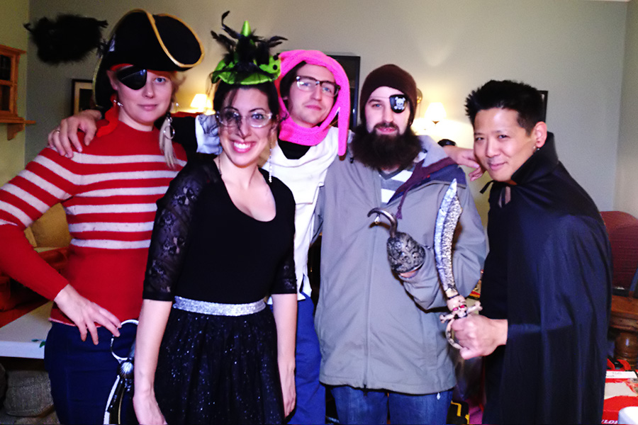 Me and a few of my coworkers on Halloween in Corner Brook