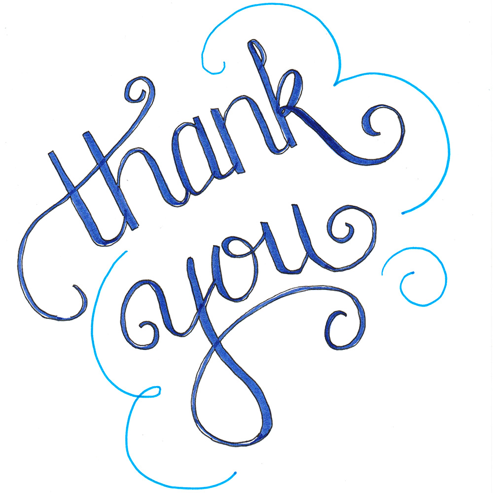Hand Lettered Thank You