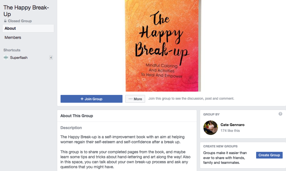 Facebook Community - The Happy Break-up: Facebook community (share your completed pages from The Happy Break-up here!)