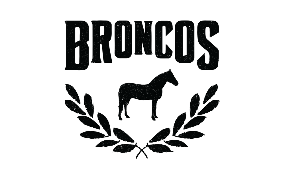 I designed this new logo for Broncos in 2016 and it was implemented on all menus and other print material.