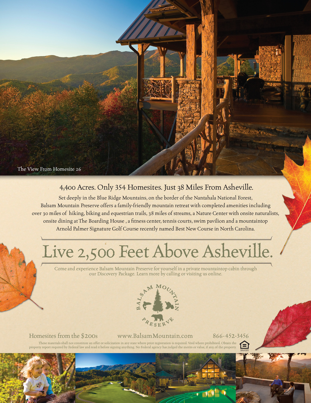 Balsam Mountain Preserve Magazine Ad