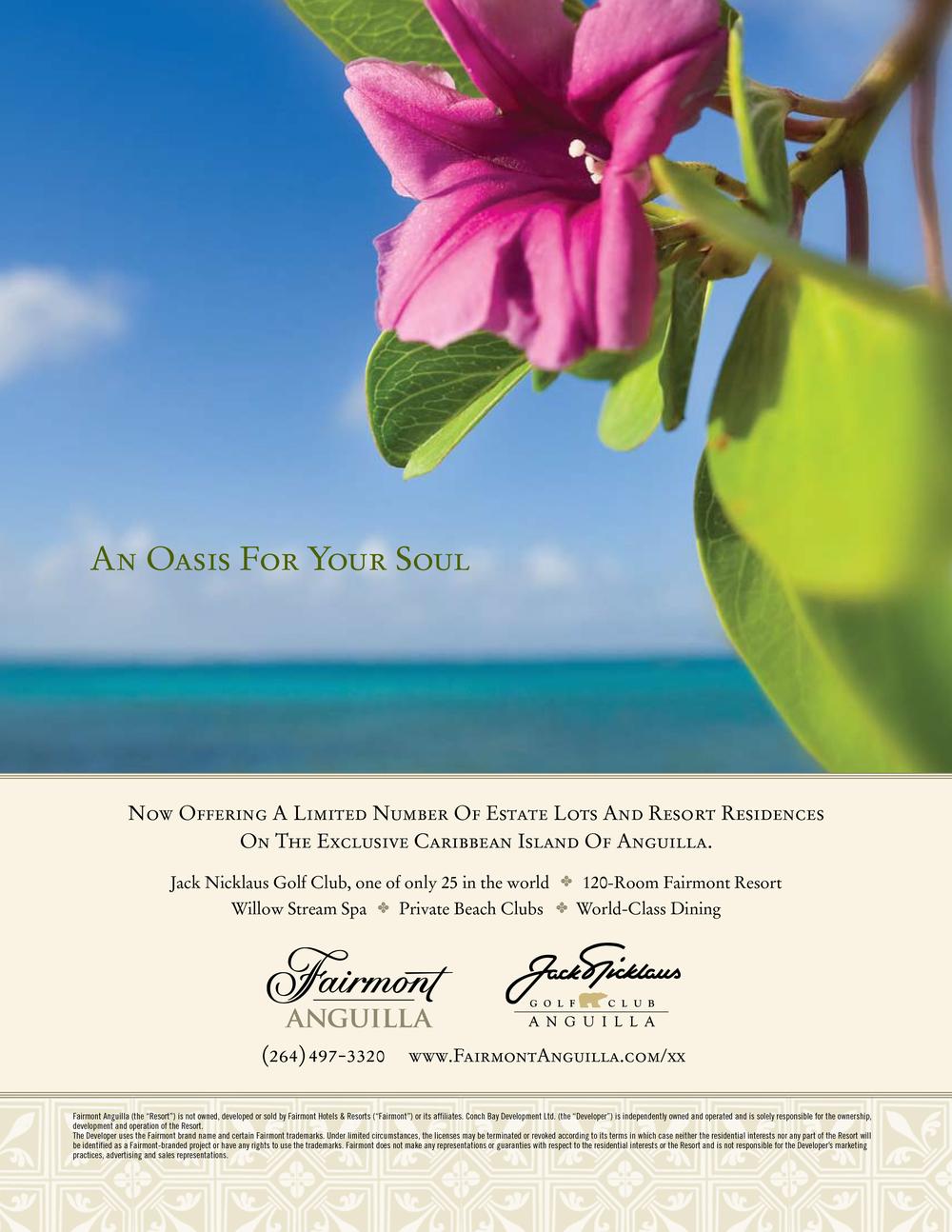 Fairmont Anguilla Magazine Ad - Oasis