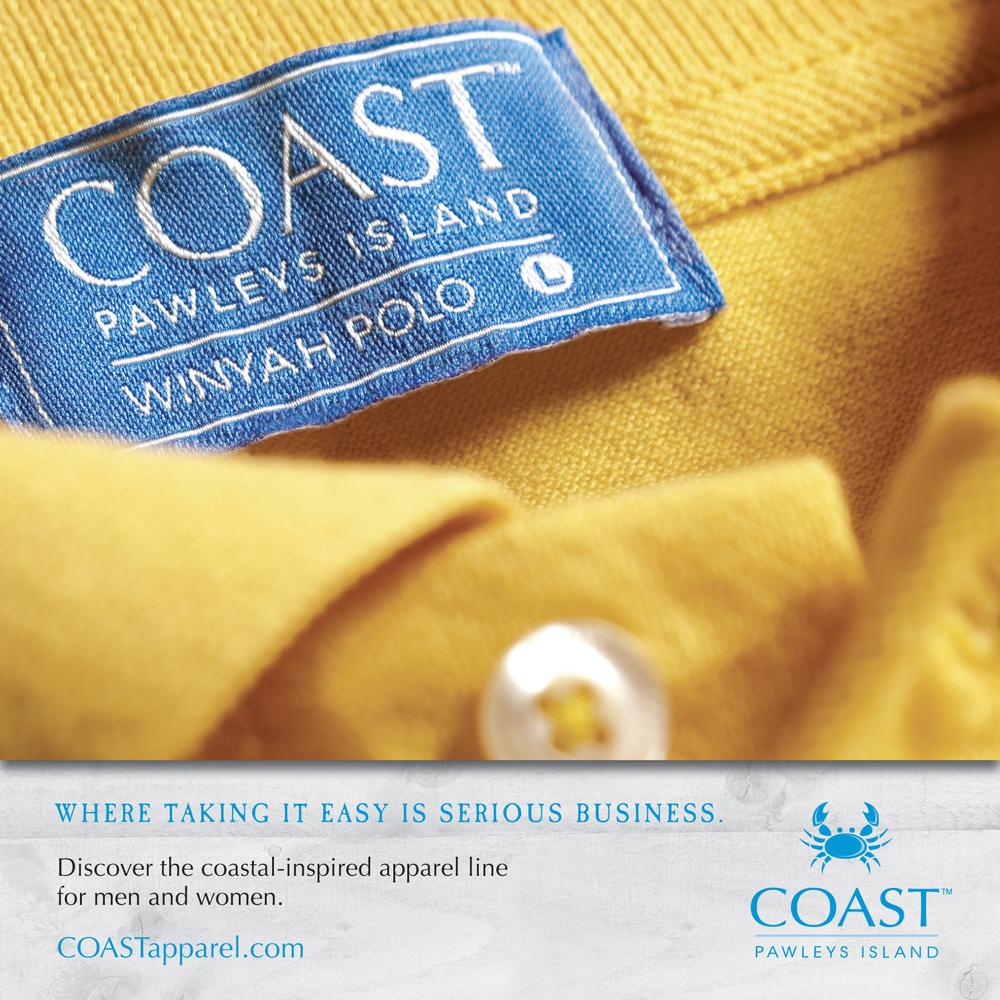 COAST Apparel - Winyah Polo Ad