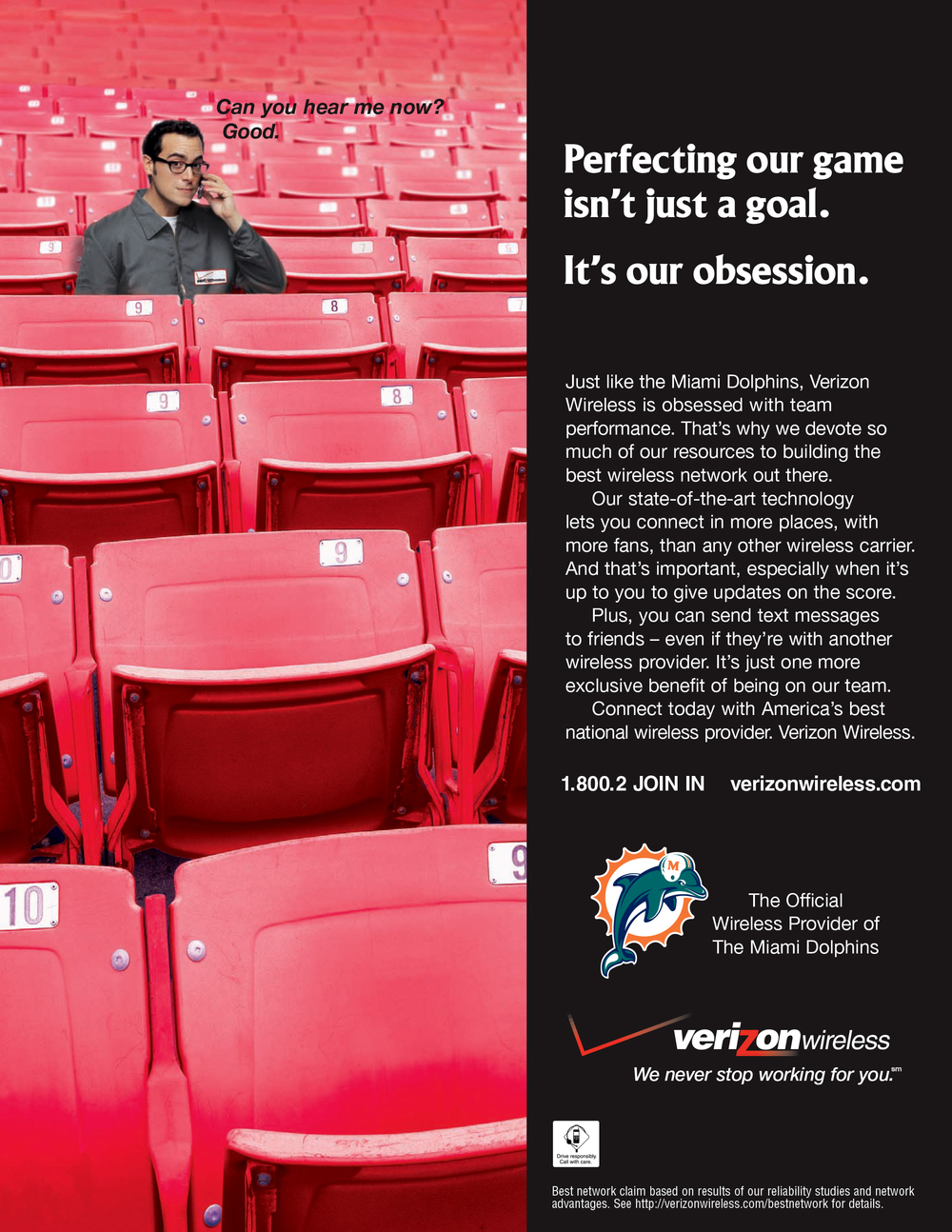 "Verizon Wireless ""Dolphins Football"" Ad"