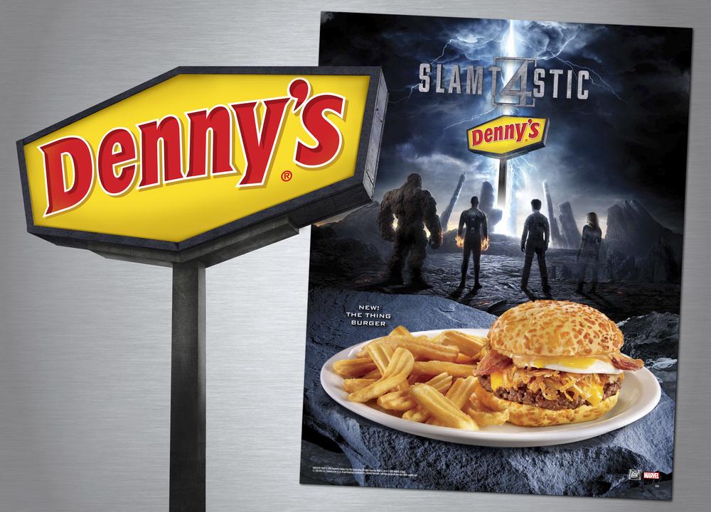 """Denny's """"Fantastic Four"""" Sign Illustration"""