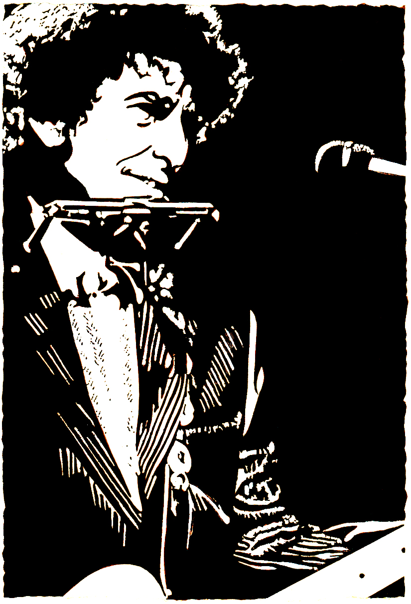 One-Color Stylization of Bob Dylan