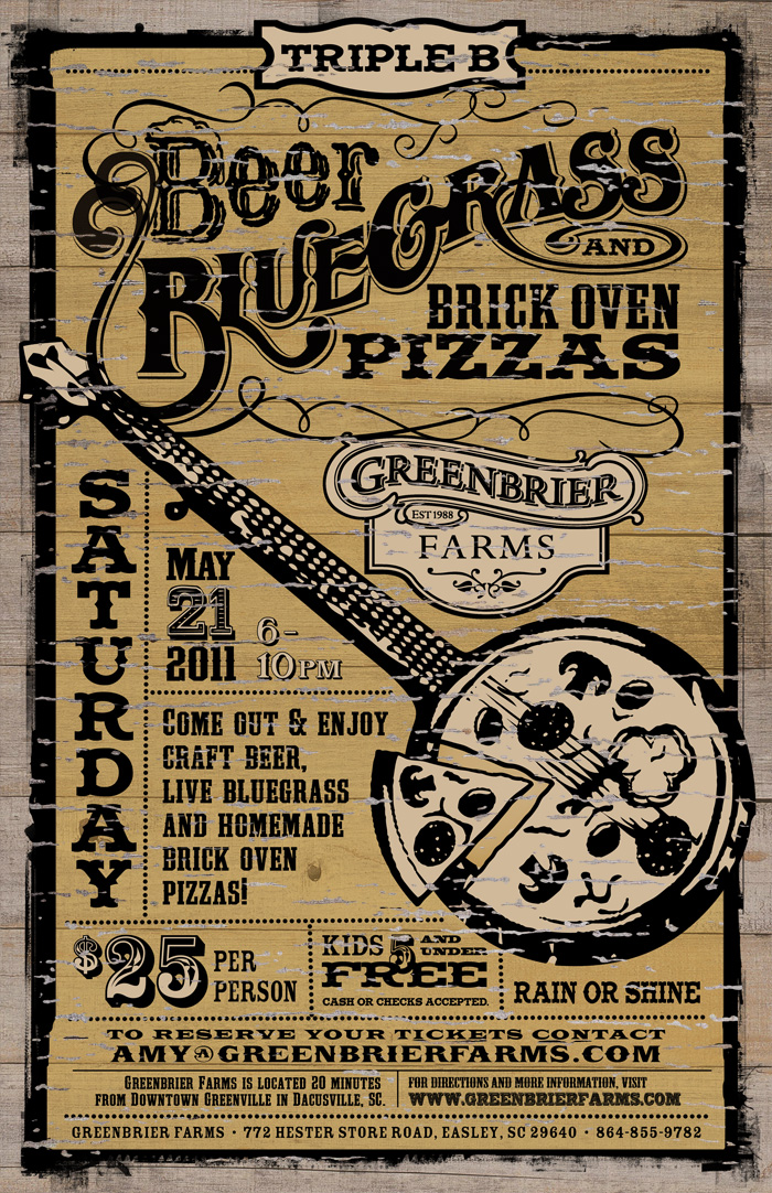Greenbrier Farms 2011 Triple B Event Poster