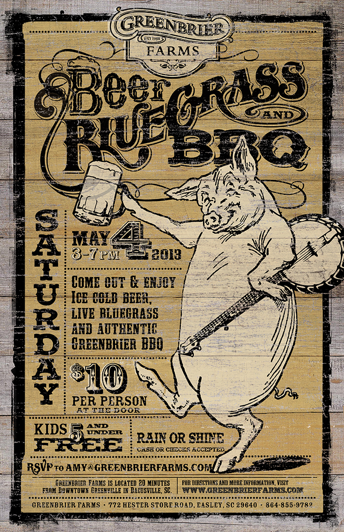 Greenbrier Farms 2013 Triple B Event Poster