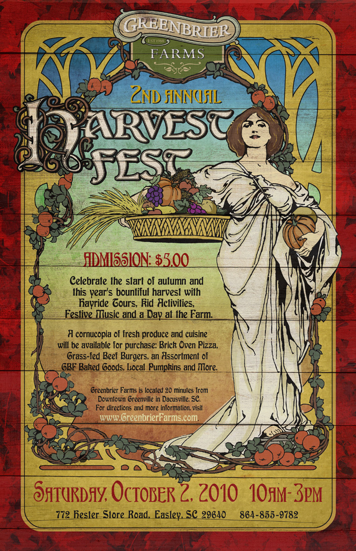 Greenbrier Farms 2nd Annual Harvest Fest Poster