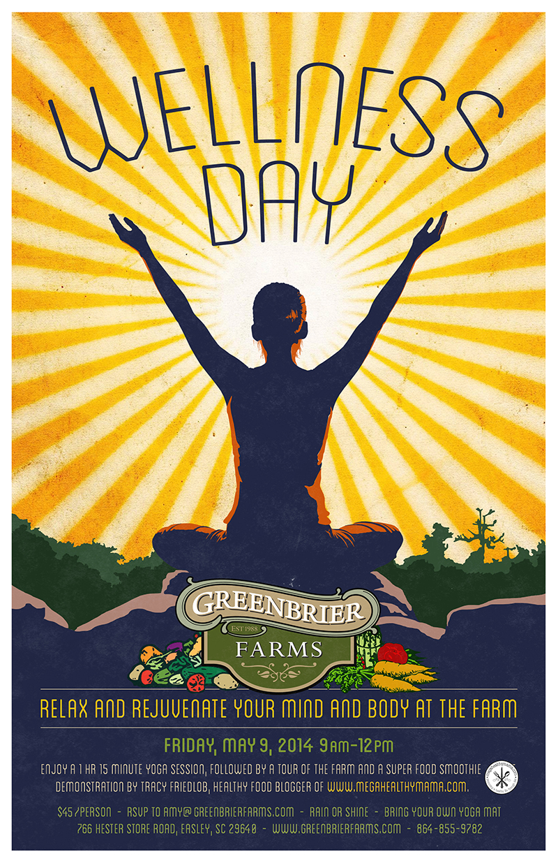 Greenbrier Farms Wellness Day Poster