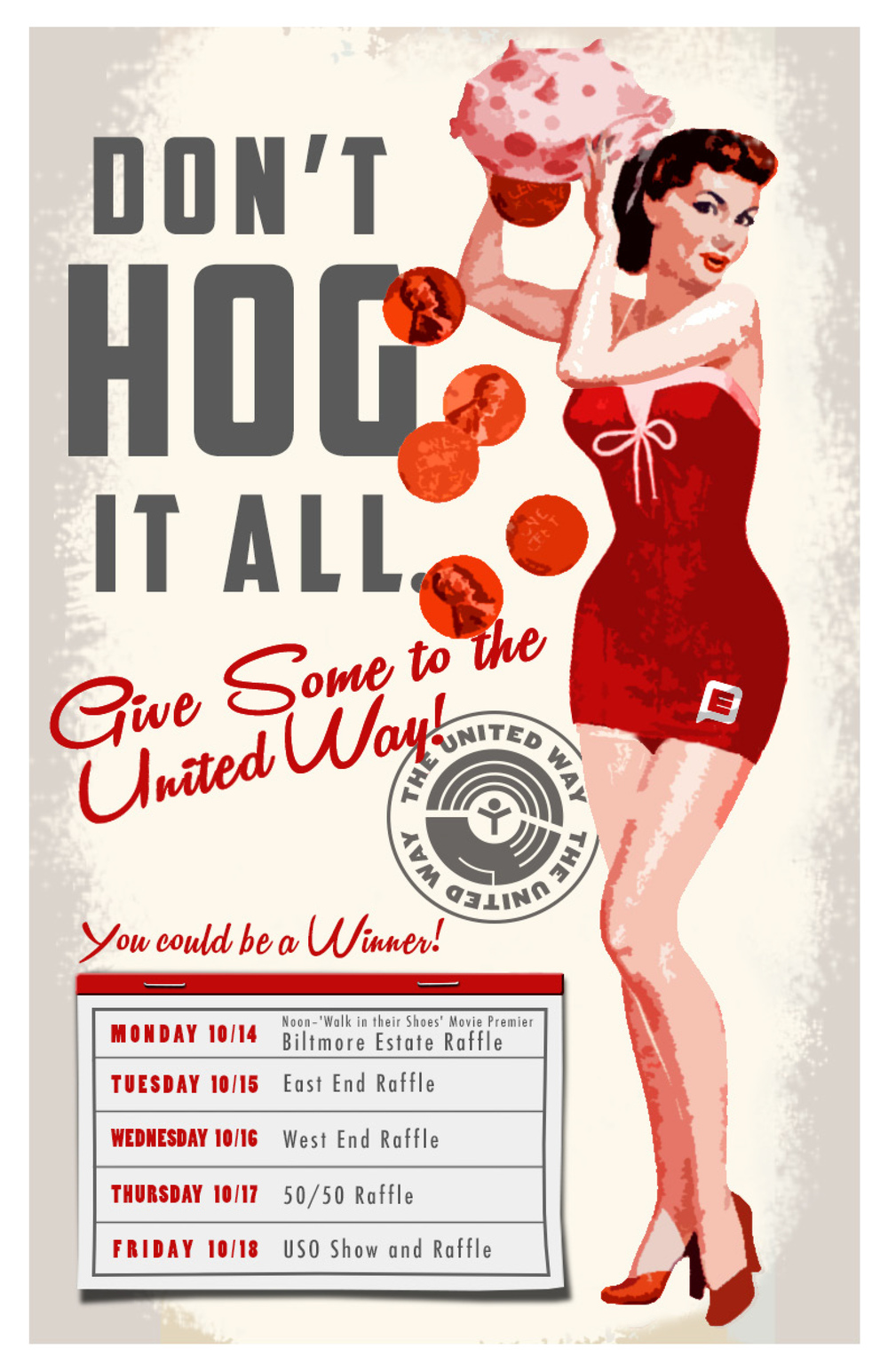 Erwin Penland United Way Campaign Fundraising Poster