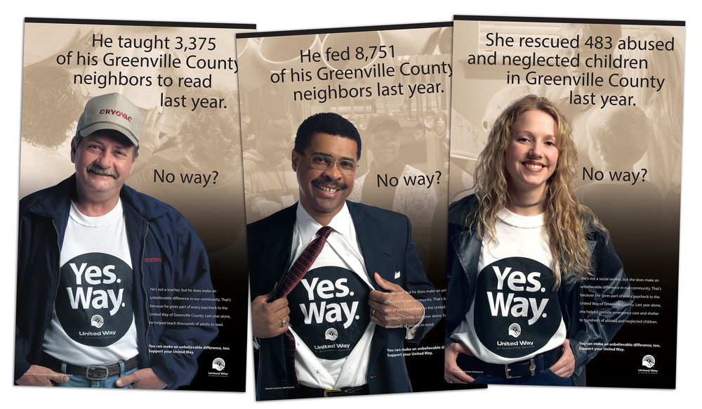 United Way of Greenville County 2003 Campaign Posters