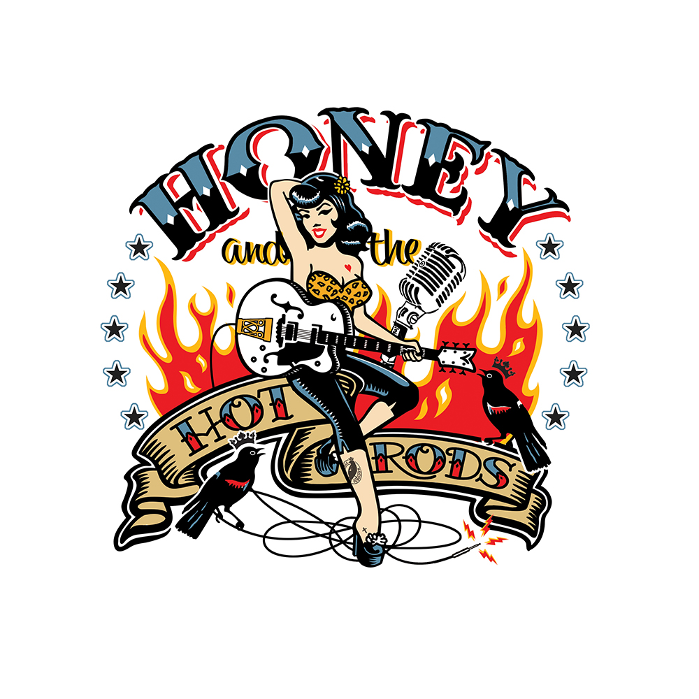 Honey and the Hot Rods Logo