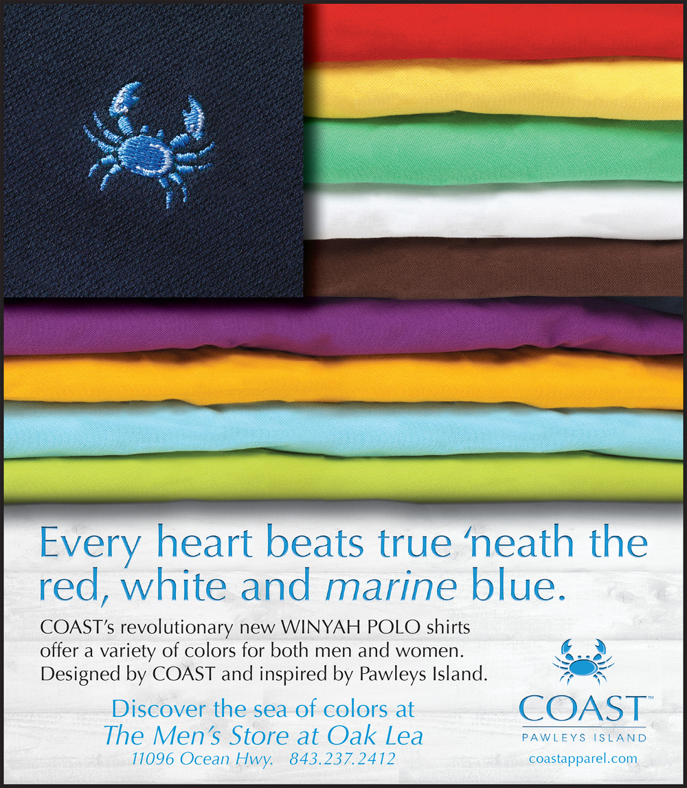 "COAST Apparel Winyah Polo ""Colors"" Ad"