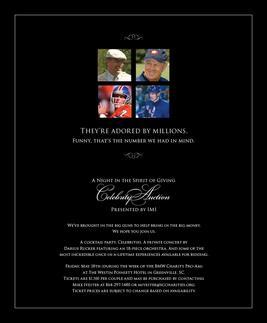 IMI Celebrity Auction Ad