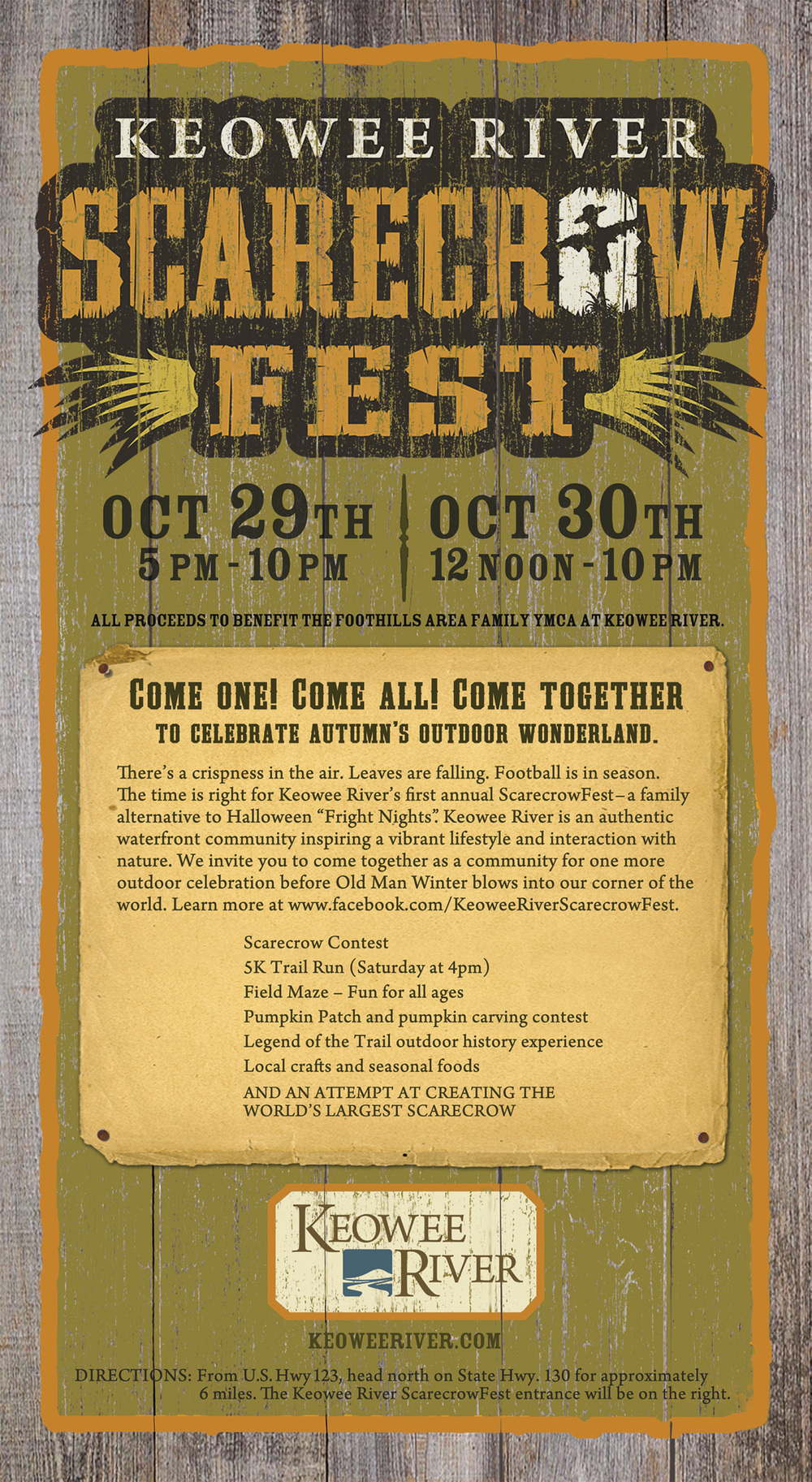 Keowee River Scarecrow Fest Ad