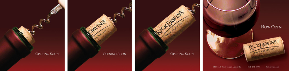 Ad Series for Rick Erwin's Grand Opening