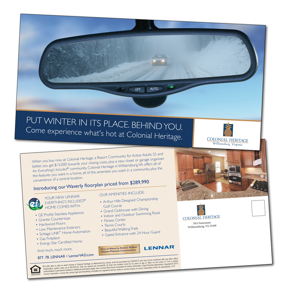Colonial Heritage Community Winter Direct Mail