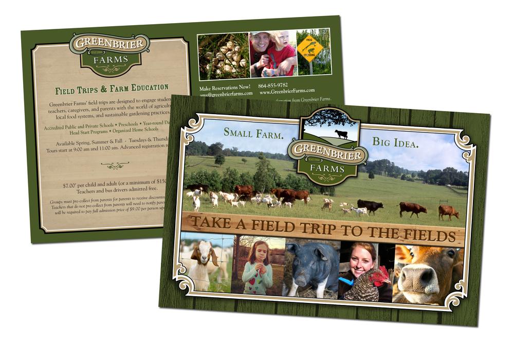 Greenbrier Farms Field Trip Postcard