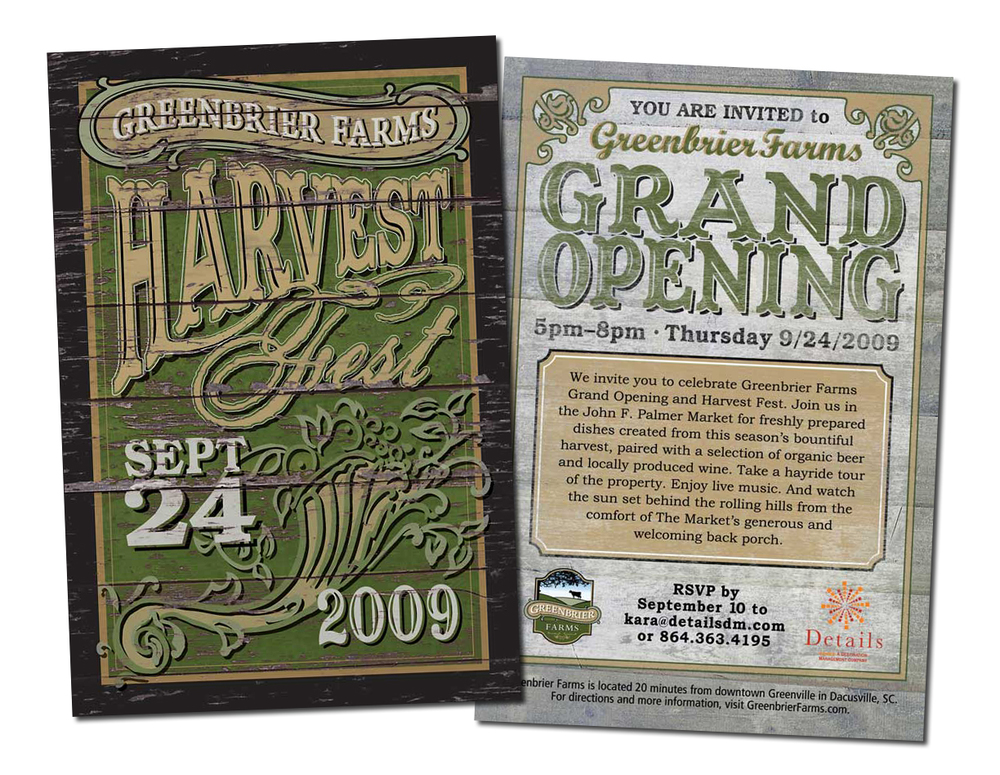 Greenbrier Farms First Annual Harvest Fest Postcard