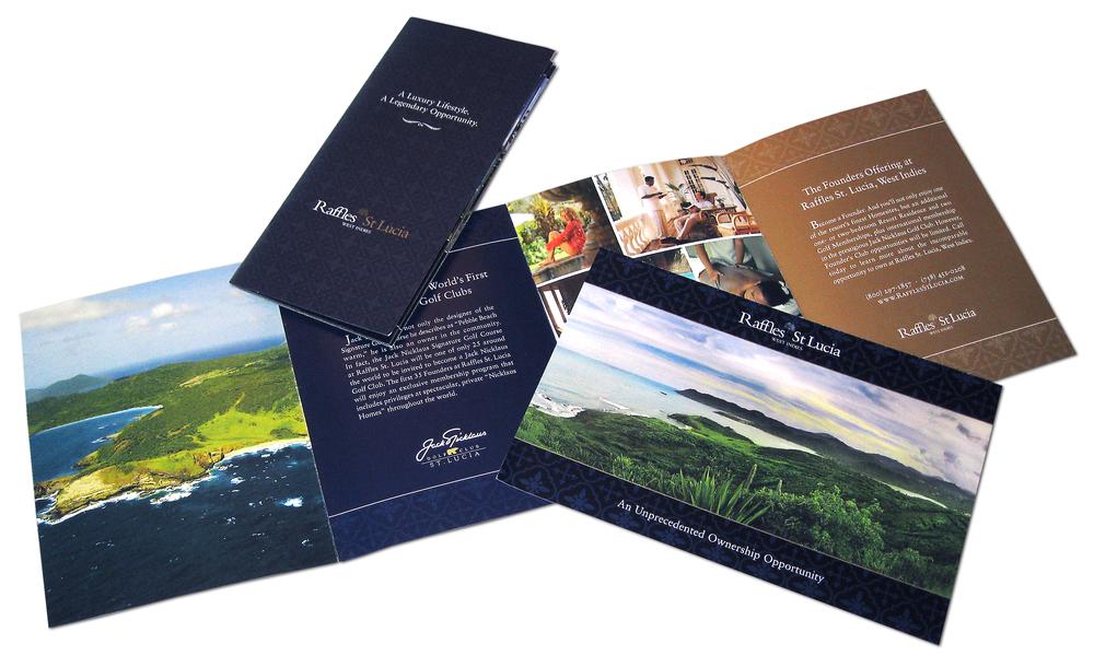 Raffles St. Lucia Direct Mail Materials